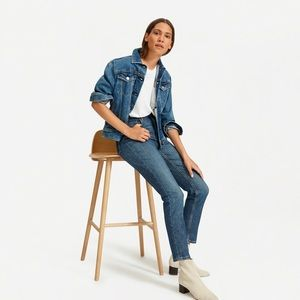 Everlane High Rose Straight Ankle Jeans